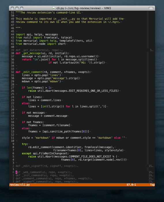 Current Vim Setup Screenshot